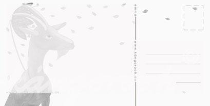 Postkarte Rückseite: ziege emma/ kängorooh / 2018