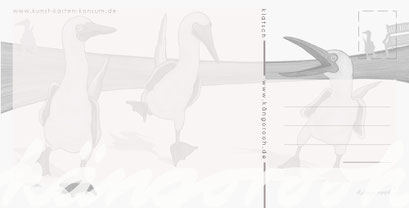 "Postkarte ""klatsch""/ Rückseite / kängorooh / 2018"