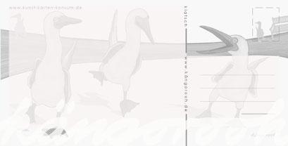 "Postkarte ""klatsch""/ Rückseite / kängorooh / 2019"