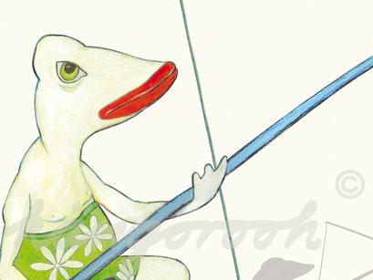 Plakat Detail 2: die Angler / kängorooh / 2016