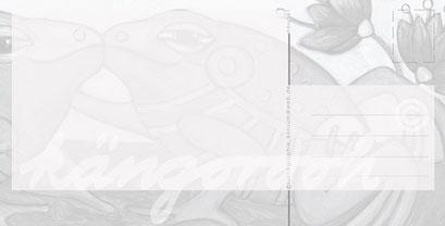 Postkarte Rückseite: liebhaber in blau /kängorooh/ 2016