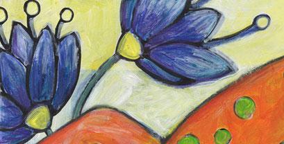 Postkarte Detail 1: liebhaber in blau /kängorooh/ 2016