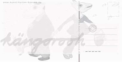 Postkarte Rückseite: ehepaar / kängorooh / 2017
