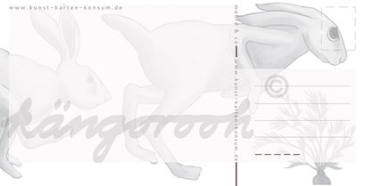 Postkarte Rückseite: möhre & co / kängorooh / 2017