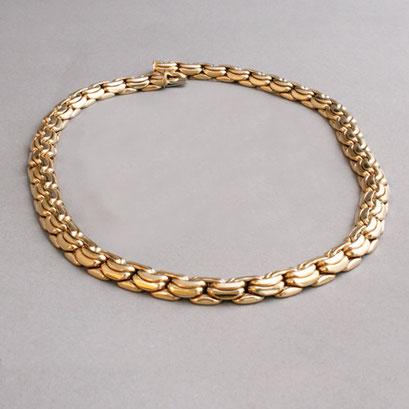 Gelbgoldkette, 585er Gelbgold, 77,6g, Länge 43cm