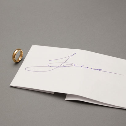 Vorlage für eine Faksimile Handgravur