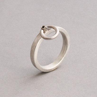 "Sonderanfertigung nach Kundenwunsch 925er Sterlingsilber, ""Der Ring der O"""