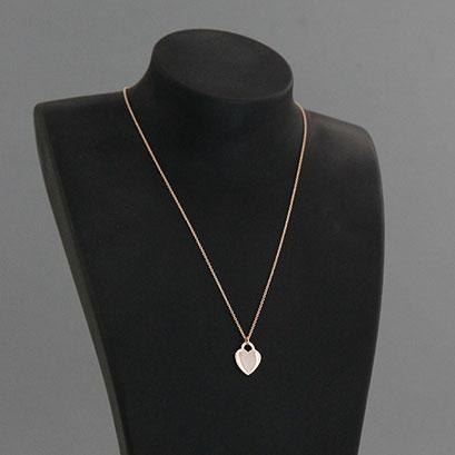 Halskette mit Herzanhänger, 585er Rotgold