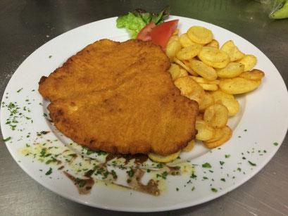 Klassisch: Schnitzel mit Kartoffelchips