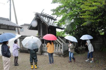 笠間小の旧奉安殿(現在は梅戸北神明社)