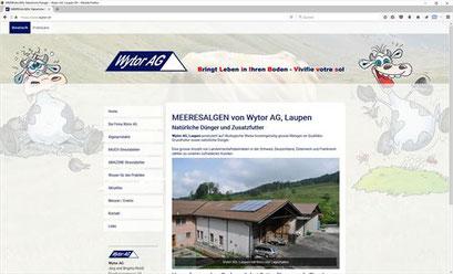 Wytor AG, Laupen - MEERESALGEN - Natürliche Dünger und Zusatzfutter