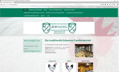 Geflügelzucht JUD, Kaltbrunn - Hühner- und Hühnerställe