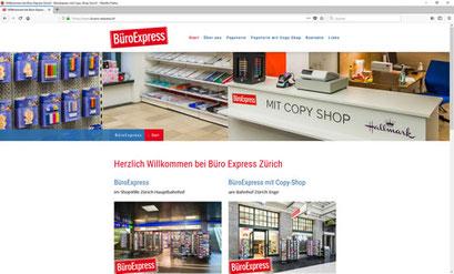 BüroExpress im ShopVille Zürich Hauptbahnhof / BüroExpress mit Copy-Shop am Bahnhof Zürich Enge
