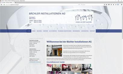 Bächler Installationen AG, Zürich