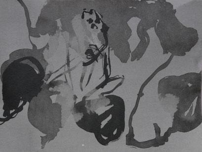 10. Exercices spirituels, encre de chine sur papier, 24 x 32 cm.