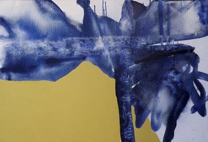 1. pigment et acrylique sur toile, 130 x 89 cm.