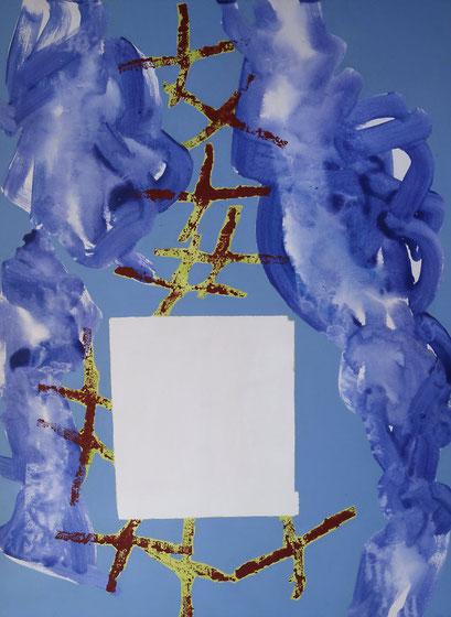 6 . acrylique sur toile, 130 x 89 cm.