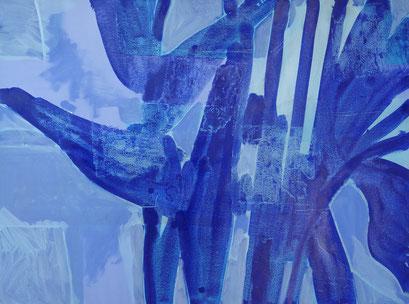 7. pigment et acrylique sur toile, 130 x 89 cm.