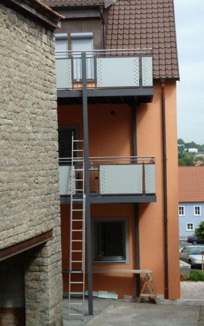 Balkonbau bei Duran Wagner - Metallbau und Schlosser Würzburg, Kitzingen, Ochsenfurt und Umgebung