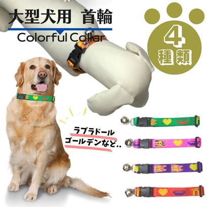 大型犬 用/カラフルな首輪