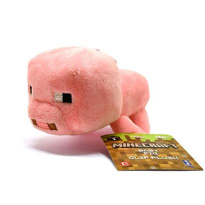 Minecraft Clip Plush (Baby Pig)