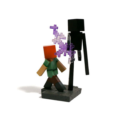 Minecraft Craftable Diorama Figures (Alex? & Enderman)