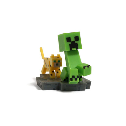Minecraft Craftable Diorama Figures (Creeper & Ocelot)