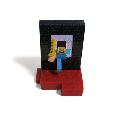 Minecraft Craftable Diorama Figures (Nether Portal)