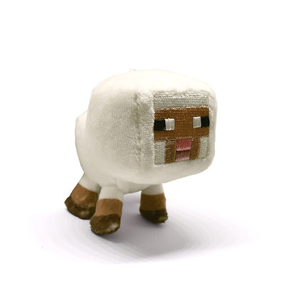 Minecraft Clip Plush (Baby White Sheep)