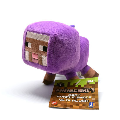 Minecraft Clip Plush (Baby Purple Sheep)