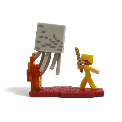 Minecraft Craftable Diorama Figures (Ghast Battle)