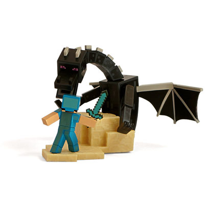 Minecraft Craftable Diorama Figures (Enderdragon Fight)