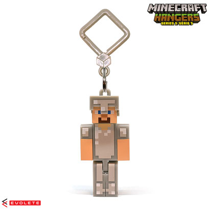 Minecraft Backpack Hangers Series 5 (Iron Armor Steve)