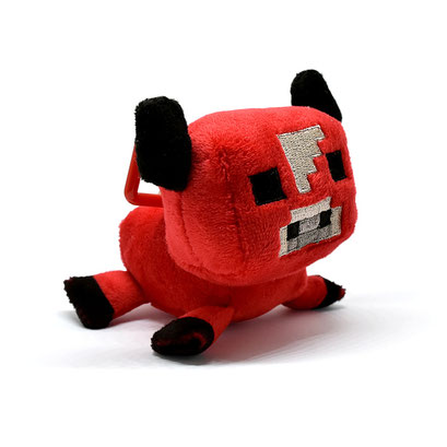 Minecraft Clip Plush (Baby Mooshroom)