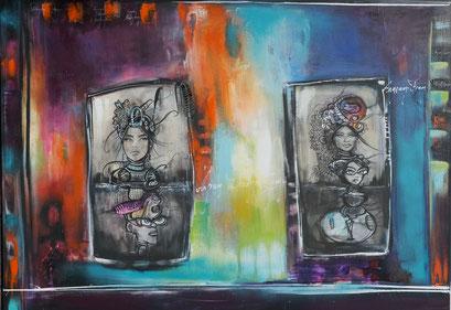 Acrylic and Oil on Canvas, 135x100cm