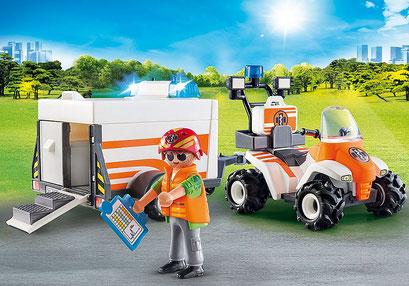 Playmobil - Quad et remorque de secours