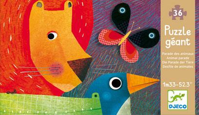 Puzzle géant : la parade des animaux