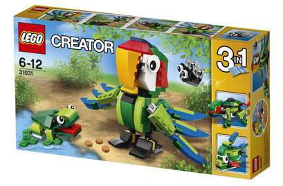 Lego Creator : perroquet et animaux de la jungle