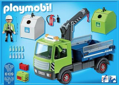 Playmobil, le camion avec grue et conteneur
