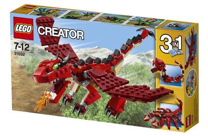 Lego Creator : dragon et créatures rouges