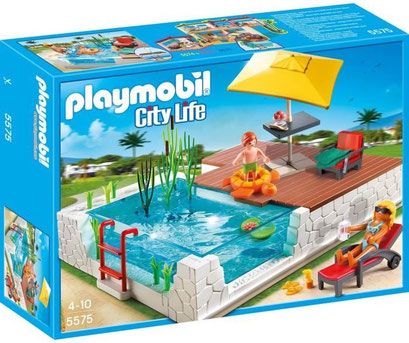 Playmobil, la piscine avec terrasse