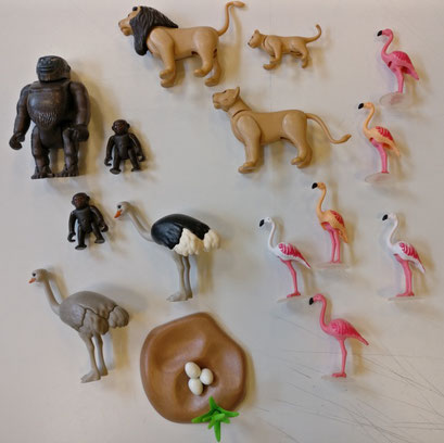 Playmobil, les animaux de la savane