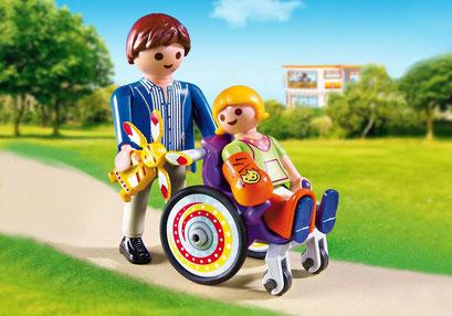 Playmobil : l'enfant en fauteuil