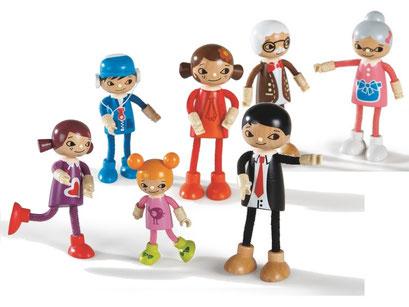 Famille de mini-poupées