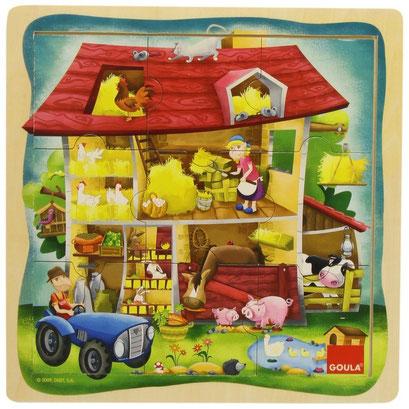 Puzzle bois - ferme