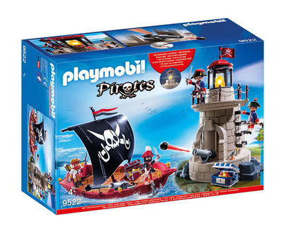 Playmobil - Chaloupe pirate et phare