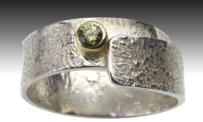 Silver, Gold, Peridot, - Peak District Collection