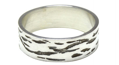 Silver Etched Ring - Texel Collection