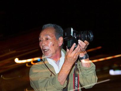 内灘・夜の撮影会 ストロボ流し撮り実習