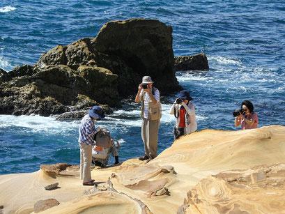 台湾撮影旅行01  奇岩、怪石にアートな図形を見つけ撮影」